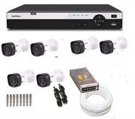 Kit Cftv 6 cameras  Intelbras Dvr Intelbras Hdcvi 1008 com HD