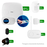 Kit de Alarme Intelbras 04 Sensores com Monitoramento Por Aplicativo via Internet