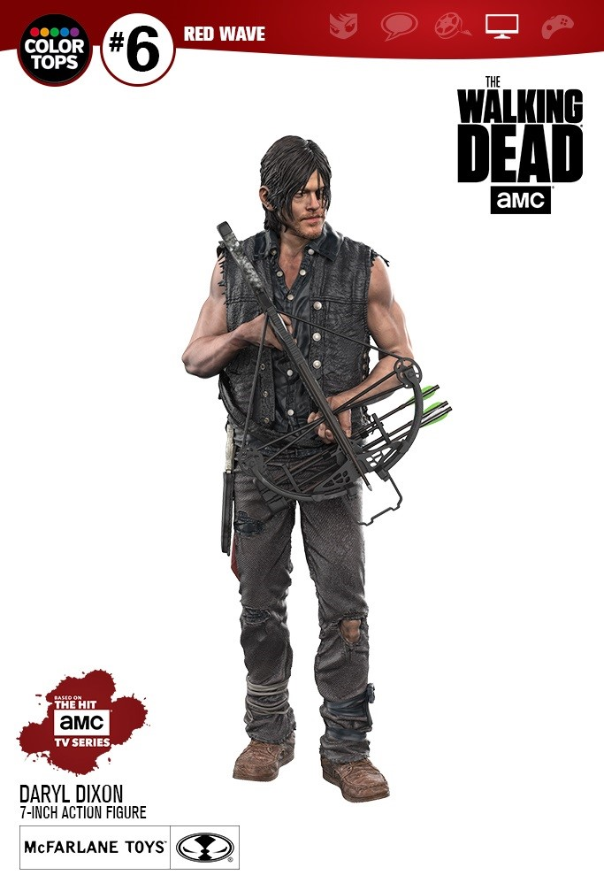 Daryl Dixon The Walking Dead Action Figure Mcfarlene Toys