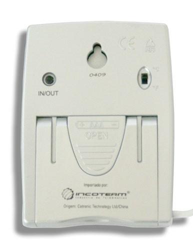 Termo-higrômetro Digital Parede/ Mesa -  Temperatura e Umidade Interna/Externa Mod. 7666.02.0.00