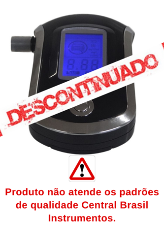 Etilômetro/Bafômetro Digital Portátil com 5 Bocais ITBA-6000
