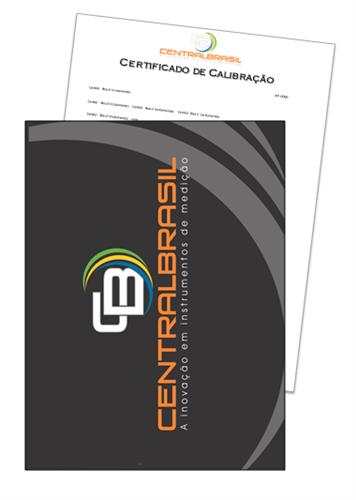 Certificado De Calibração para Medidor de Espessura de Chapa