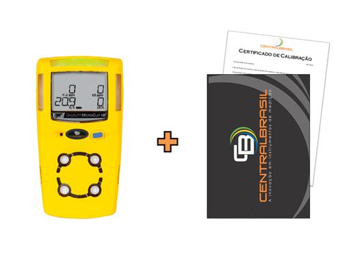 Detector de 4 Gases Microclip XL + Certificado de Calibração com Padrões Rastreáveis ao INMETRO / RBC