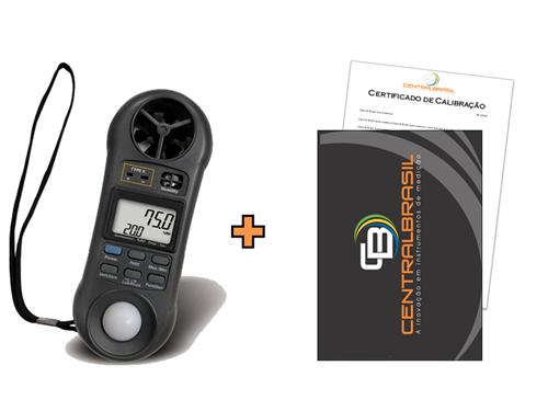 Termo-Higro-Anemômetro Luxímetro Digital - Mod. LM8000 + Certificado de Calibração com Padrões Rastreáveis ao INMETRO / RBC