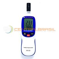 CB-322 Termo-Higrômetro Ponto de Orvalho e memória de armazenamento