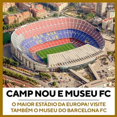 Tour Estádio Camp Nou e Museu do Barcelona