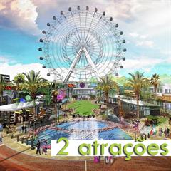 2 Atrações no I-Drive ICON Orlando 360 - Escolha entre Madame Tussauds, The Orlando Eye ou Aquário SEALIFE - Mais de 25% OFF por cada atração - CRIANÇA (3-12 anos) - 2018 ou 2019