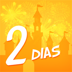 Ingresso Super 2 Dias Disney - Mais de 15% OFF por cada dia de parque - Escolha entre Magic Kingdom, EPCOT, Hollywood Studios ou Animal Kingdom - ADULTO (10 anos ou +) - 2018 ou 2019