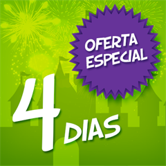 Ingresso Super 4 Dias Disney - Mais de 35% OFF por cada dia de parque - Magic Kingdom, EPCOT, Hollywood Studios e Animal Kingdom - CRIANÇA (3-9 anos) - 2018 ou 2019