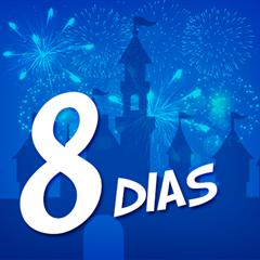 Ingresso 8 Dias Disney - Mais de 60% OFF por cada dia de parque - Magic Kingdom, EPCOT, Hollywood Studios e Animal Kingdom - ADULTO (10 anos ou +) - 2018 ou 2019