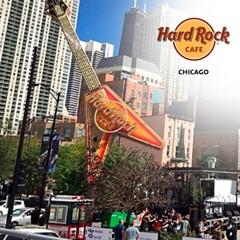 Um Almoço ou Jantar no Hard Rock Café Chicago + Camisa Oficial - Opção de Menu Electric - Contempla Refil de Refrigerante - Chicago - ADULTO ou CRIANÇA - Válido até 31/12/2019