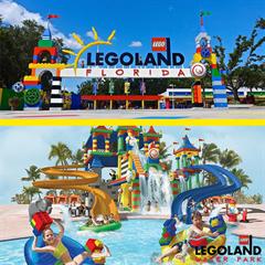 Ingresso 2 Dias - Legoland Florida + Parque Aquático - CRIANÇA (3-12 anos) - Confira datas de funcionamento antes da compra - Válido somente até 28/10/18