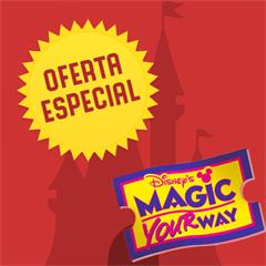Ticket 4 Dias + 1 Dia Grátis (Preço Imbatível Promoção Relâmpago) - Mais de 45% OFF por cada dia de parque - Magic Kingdom, EPCOT, Hollywood Studios e Animal Kingdom - ADULTO (10 anos ou +) - 2017 ou 2018