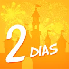 Ticket Super 2 Dias Disney (Preço Imbatível, Promoção Exclusiva) - Mais de 15% OFF por cada dia de parque - Escolha entre Magic Kingdom, EPCOT, Hollywood Studios ou Animal Kingdom - CRIANÇA (3-9 anos) - 2018 ou 2019
