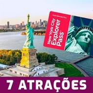 Ingresso New York City Explorer Pass 7 Atrações - Escolha 7 entre mais de 90 Super Atrações de Nova York – Divirta-se pelo menor Preço - CRIANÇA (03 à 12 anos) – Validade 1 Ano Após a Emissão