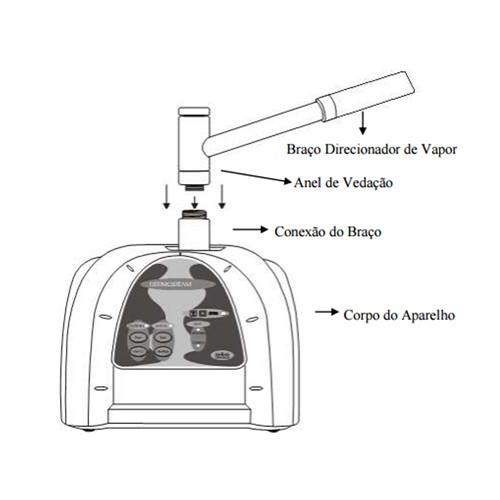 Dermosteam Ibramed - Vapor e vapor de ozônio, ideal para clínica de estética