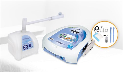 Combo Dermosteam + Sonopeel com Kit microcorrentes