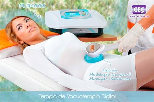Plisagge (sem Rack) - Aparelho de Vacuoterapia digital 560mmHg e Endermologia - CECBRA