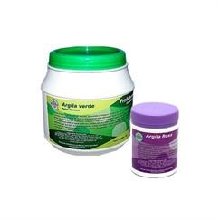 Argila verde 1kg + Argila roxa 200g