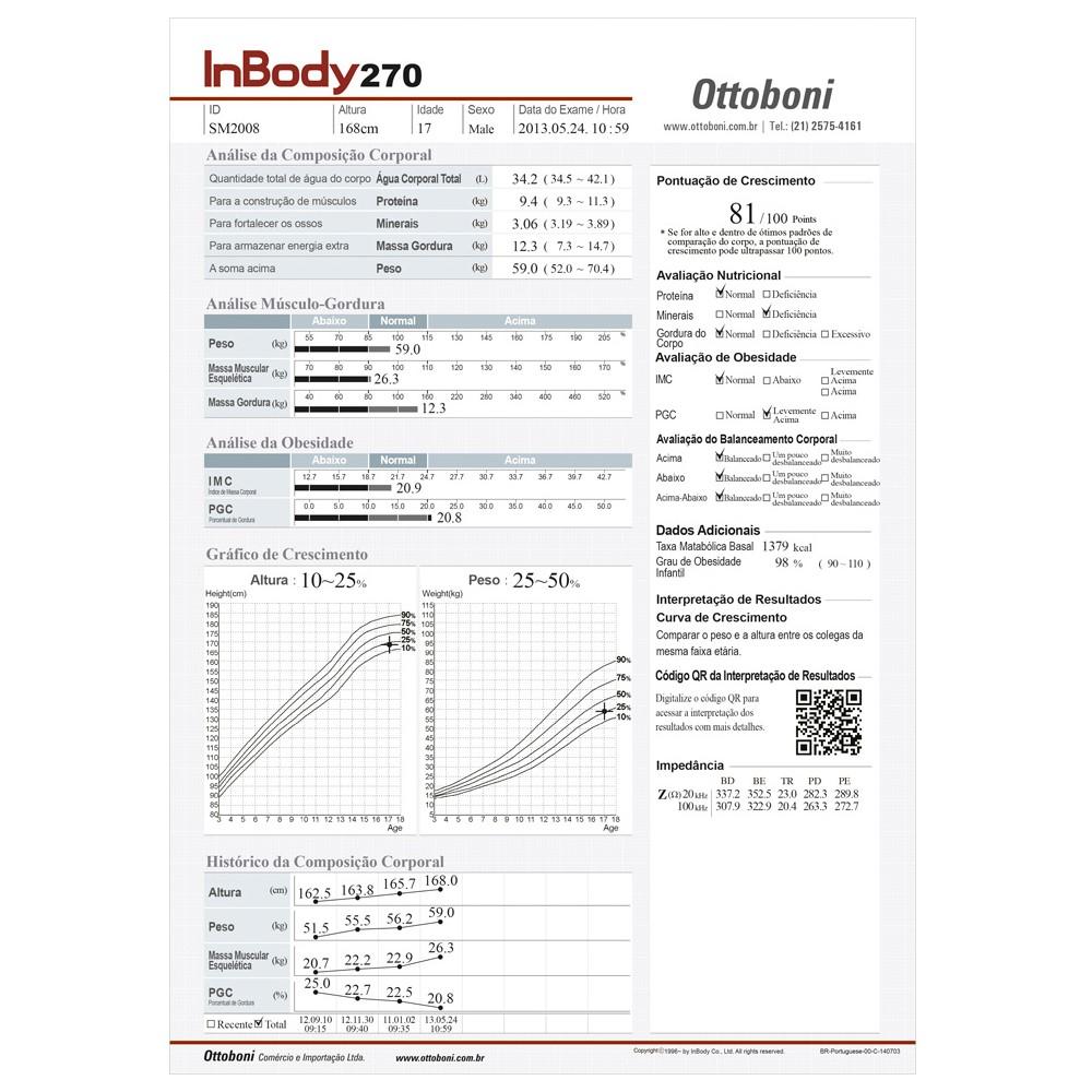 Bioimpedância InBody 270