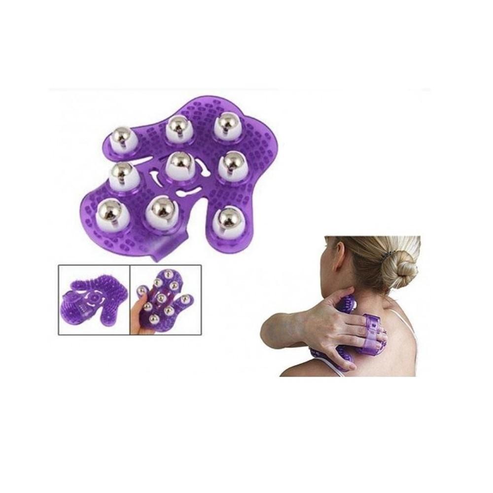 Luva massageadora lilás