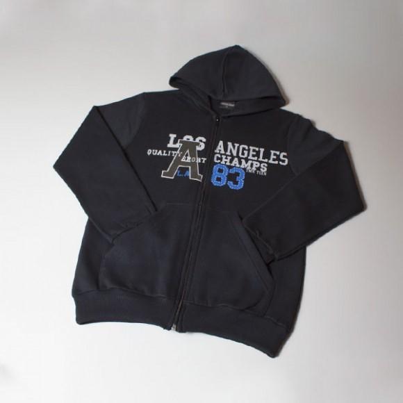 67e4671752 Jaqueta Infantil Masculino TMX em Moletom Los Angeles 10 anos ...