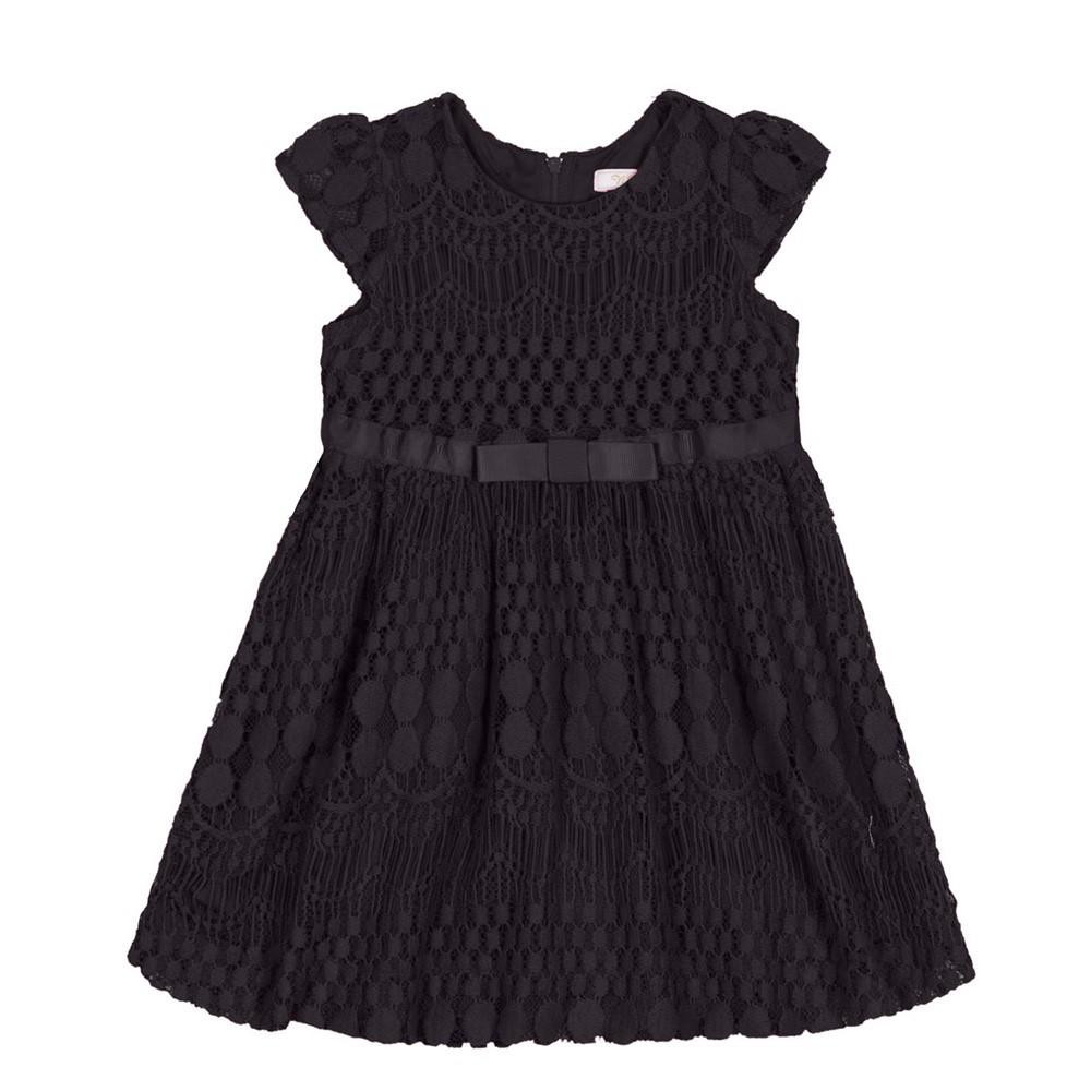 b8befcf17 Vestido Infantil Trick Nick Preto Renda 01 a 03 Anos - comprar ...