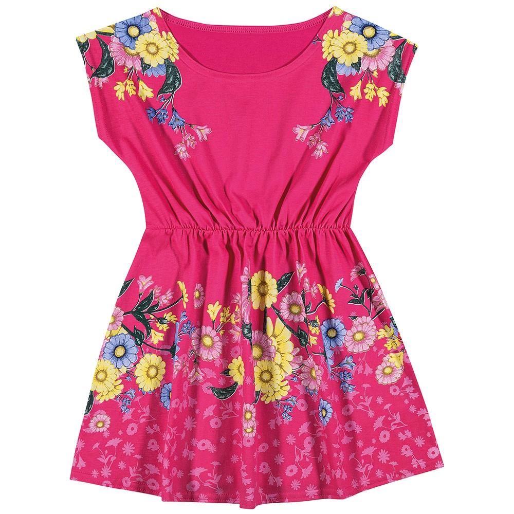 4662cfb3b Vestido Infantil Feminino Elian Floral Pink 08 Anos - comprar ...