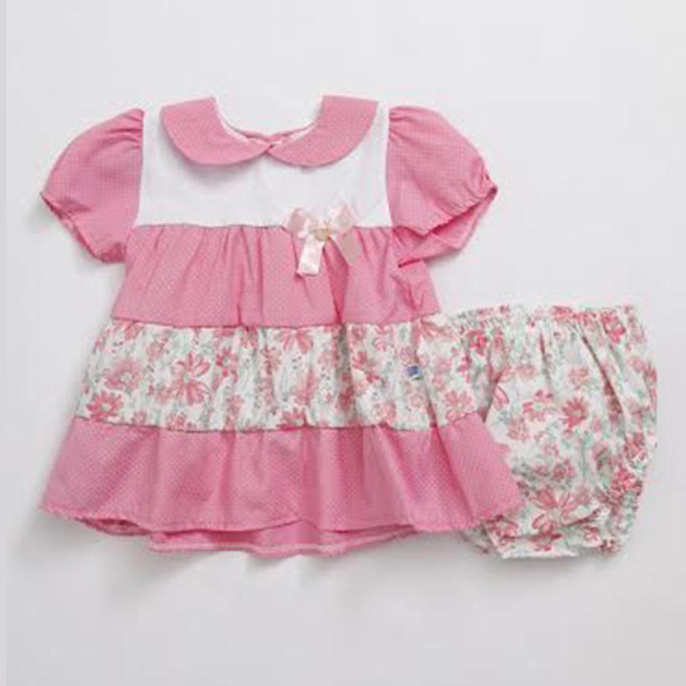 Vestido Bebê Pingo Doce com Tapa Fralda Rosa - comprar - preço rio ... fdf1e88079f