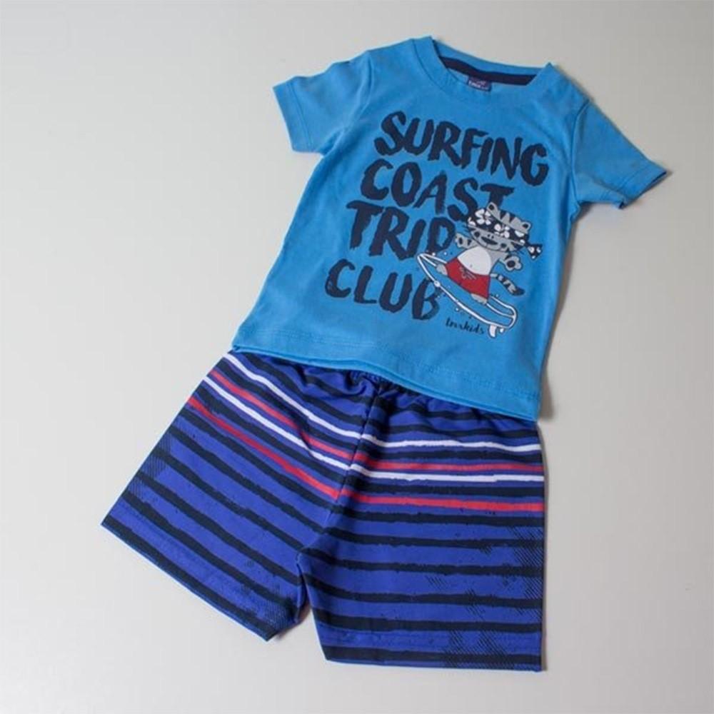 Conjunto Infantil 03 Anos TMX Surfing Azul - comprar - preço rio de ... c6489fd0d1968