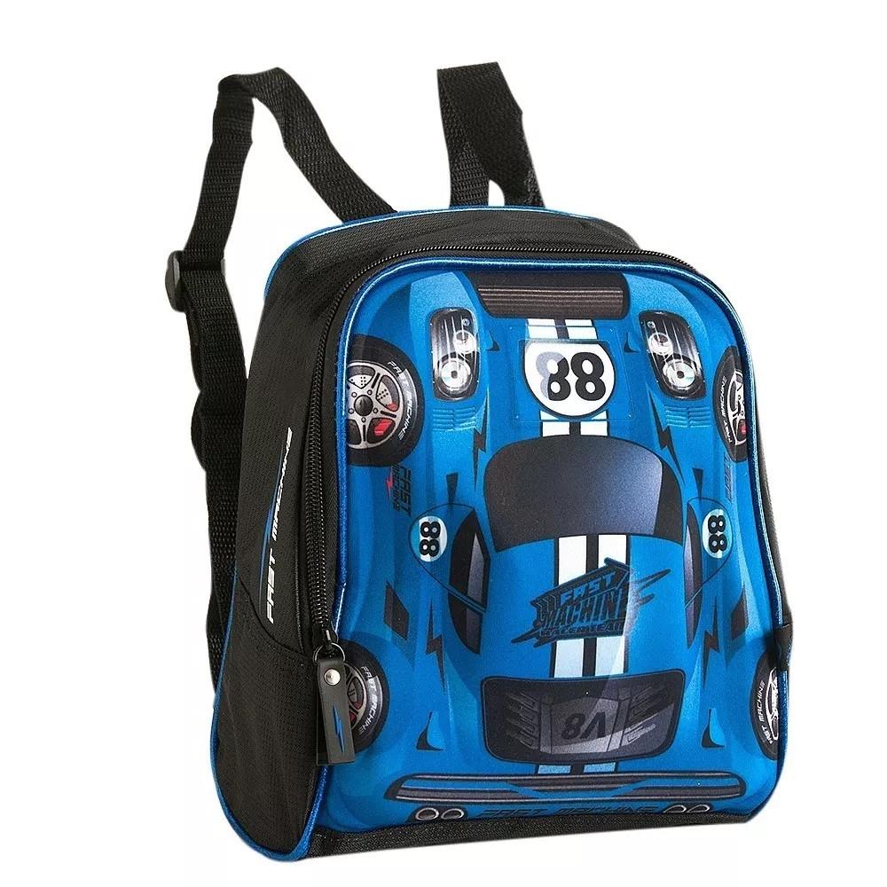 c98c1bc207 Lancheira Térmica Escolar Infantil Carros 3D Azul Fast Machine 88 ...