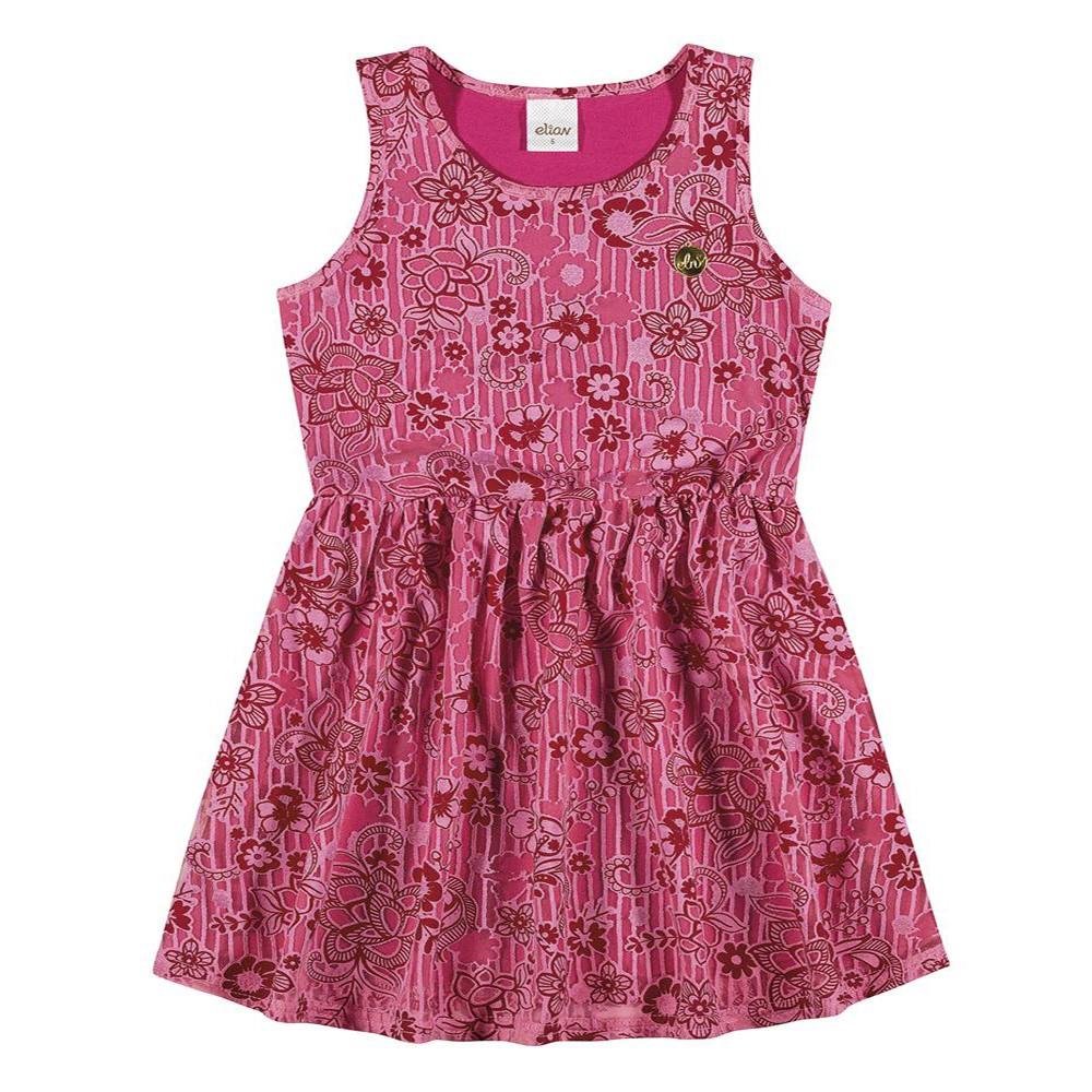 223892262 Vestido Infantil Elian Tule Devore e Meia Malha Penteada Pink 06 a 10 anos