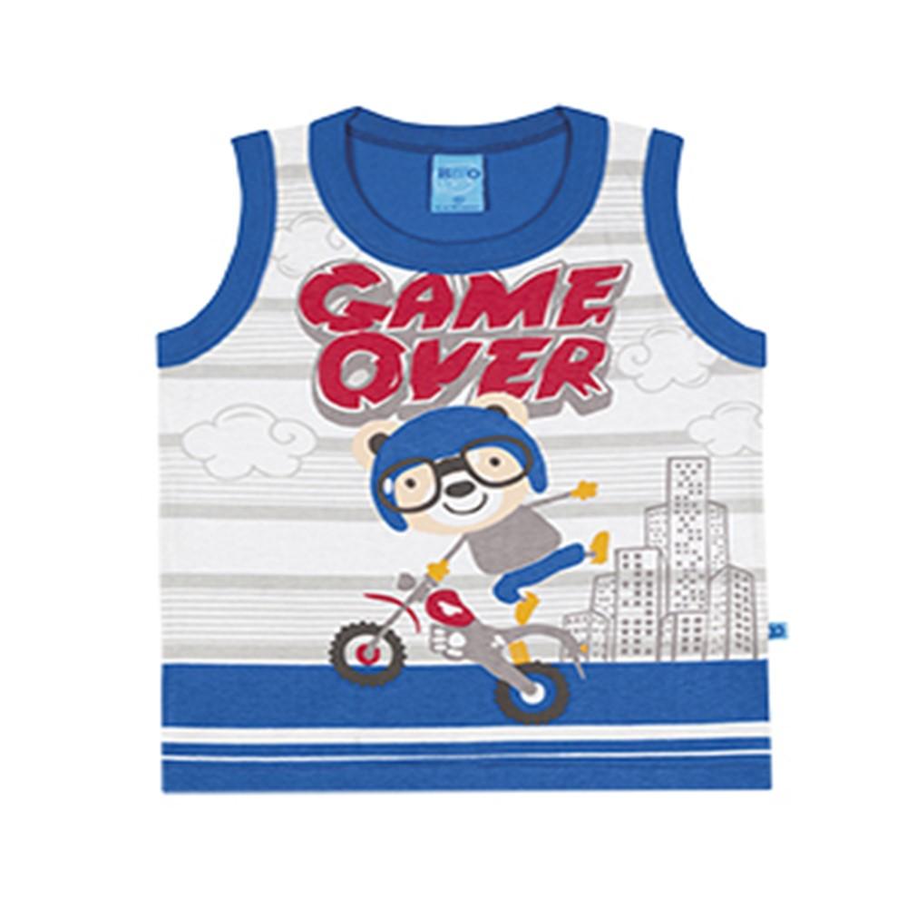 3160e78613 Regata Infantil Lecimar Game Over Azul - comprar - preço rio de janeiro