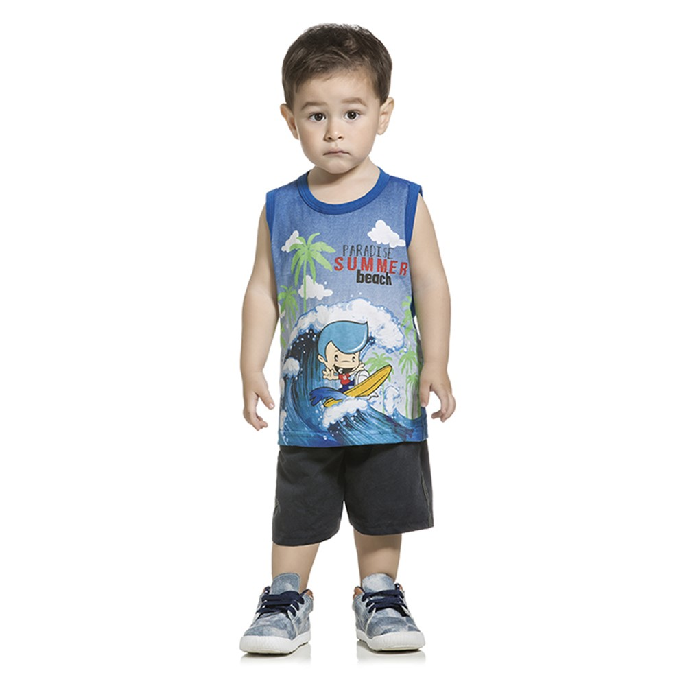 331faaa4c3 Regata Paradise Infantil Lecimar Azul - comprar - preço rio de janeiro