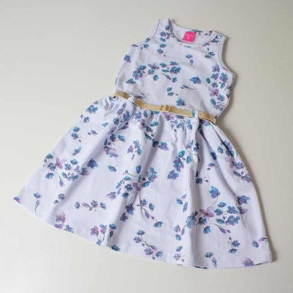 90901306c33c Vestido Infantil TMX Floral Azul 08 anos - comprar - preço rio de ...