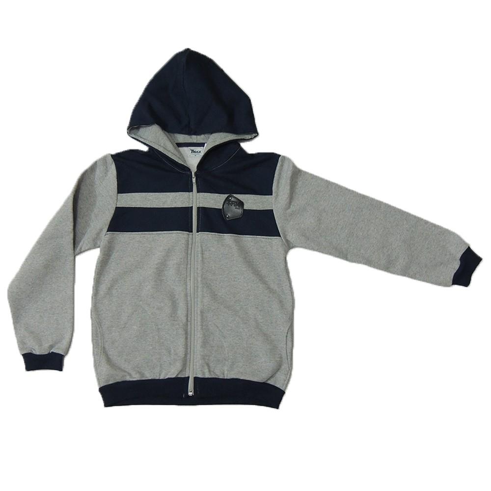 78e092d83 Jaqueta Infantil Trick Nick em Moletom Felpado Authentic Garment Mescla 04  a 10 anos