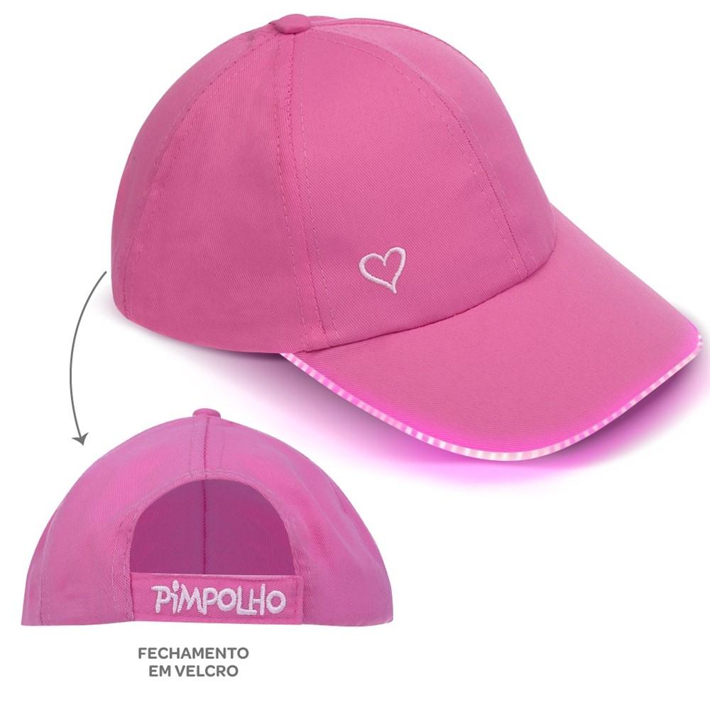 30222721aef Boné Com Led Infantil Menina Pimpolho 2 A 4 Anos Pink - comprar ...