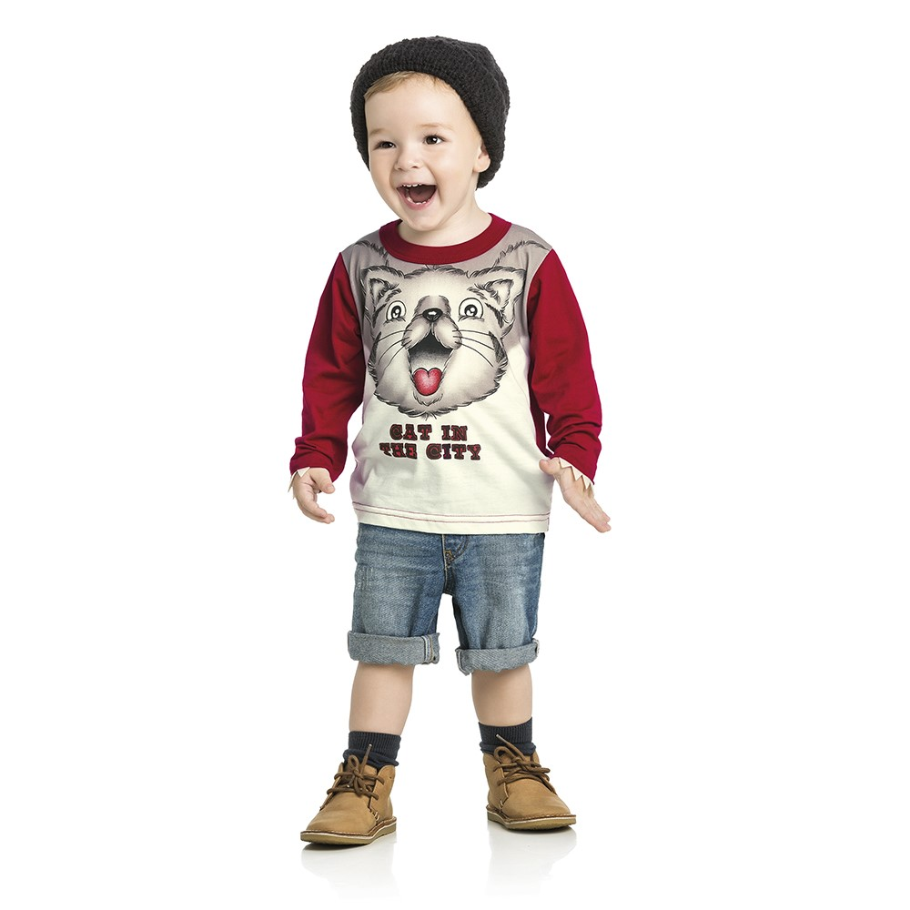 bf364b88e2 Camisa Manga Longa Infantil Lecimar - comprar - preço rio de janeiro