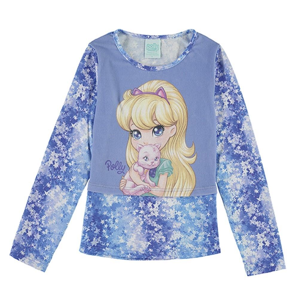 6f64cb6ecb Camisa Manga Longa New Polly Pocket Lecimar - comprar - preço rio de ...