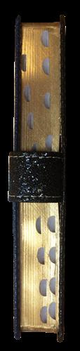 Bíblia Letra Grande Luxo Bi-color Fivela e Botão Azul com Preto