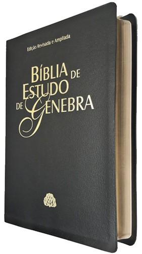Bíblia de Estudo Genebra Ampliada Preto Nobre Revista e Atualizada
