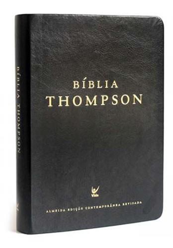 Bíblia Thompson Letra Grande Preto Luxo