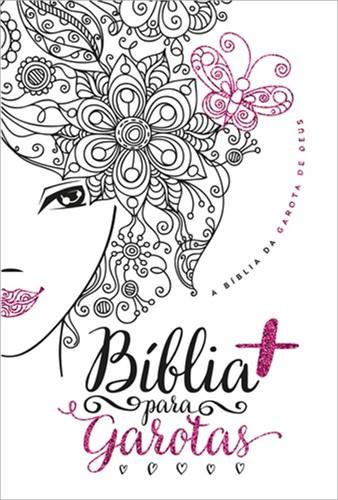 Bíblia Para Garotas Branca Glitter