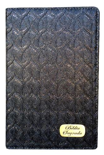 Bíblia Luxo Letra Grande Índice Preto Brilhante