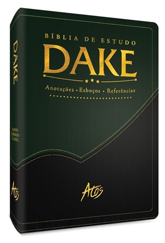 Bíblia de Estudo Dake Verde com Preto
