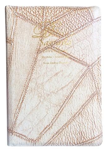 Bíblia Letra Gigante Zíper Costura Cores Revista Atualizada Marfim
