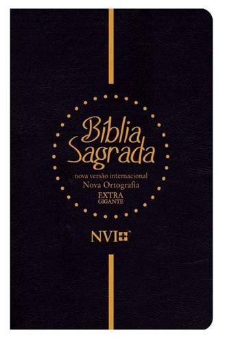 Bíblia NVI Letra Extra Gigante Preta