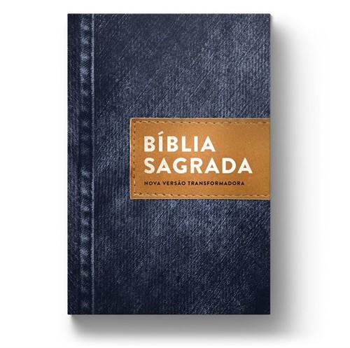 Bíblia NVT Lona Jeans Básico Capa Dura