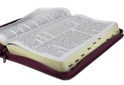Bíblia Harpa Letra Gigante Zíper Índice Vinho (palavras de Jesus em vermelho)