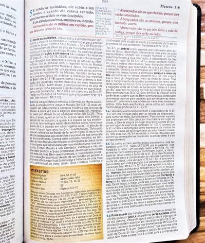 Bíblia de Estudo Kings James Holman Preta 1611